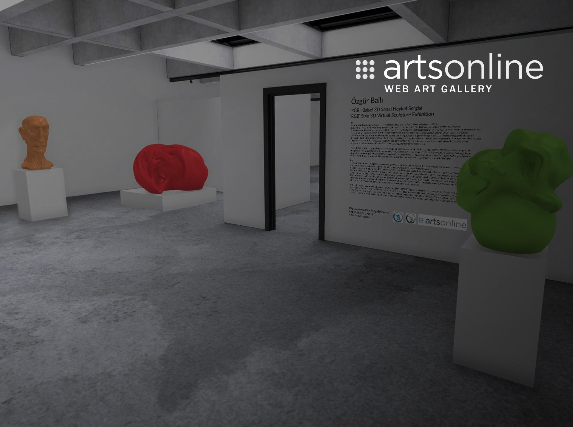 """Özgür Ballı """"RGB"""" Kişisel 3D Sanal Heykel Sergisi"""